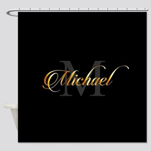 Name and initial of a boy Michael i Shower Curtain