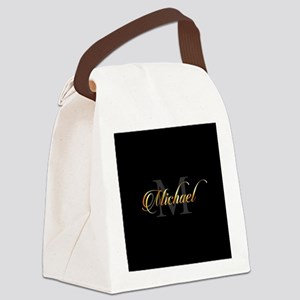 Name and initial of a boy Michael Canvas Lunch Bag