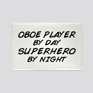 Oboe Superhero by Night Rectangle Magnet