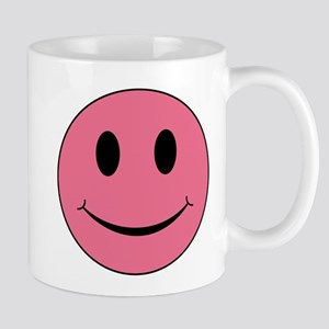 Pink Smiley Face 11 oz Ceramic Mug