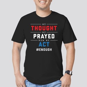 Now We Act #ENOUGH Men's Fitted T-Shirt (dark)