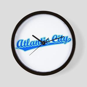 Retro Atlantic City (Blue) Wall Clock