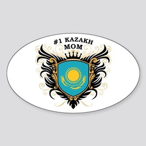 Number One Kazakh Mom Oval Sticker