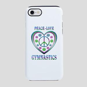 Peace Love Gymnastics iPhone 8/7 Tough Case