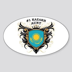 Number One Kazakh Aunt Oval Sticker
