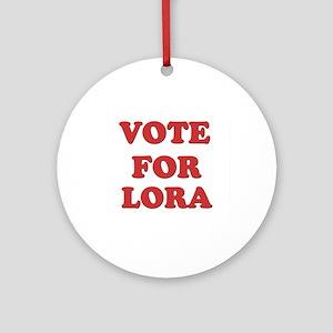 Vote for LORA Ornament (Round)