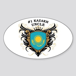 Number One Kazakh Uncle Oval Sticker