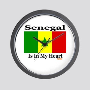 Senegal - Heart Wall Clock