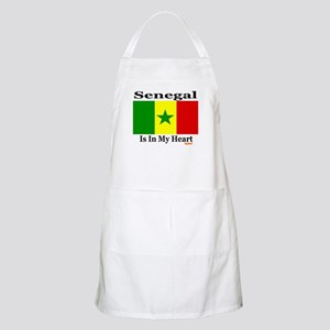 Senegal - Heart BBQ Apron