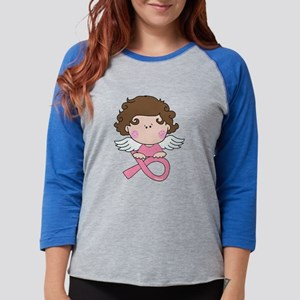 Breast Cancer Angel Pink Ribbo Long Sleeve T-Shirt