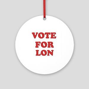 Vote for LON Ornament (Round)