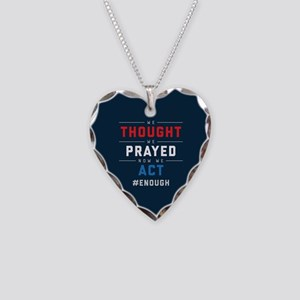 Now We Act #ENOUGH Necklace Heart Charm