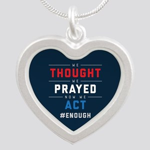 Now We Act #ENOUGH Silver Heart Necklace