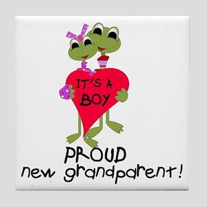 Grandparent of Boy Tile Coaster