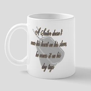 His Heart Navy Mug
