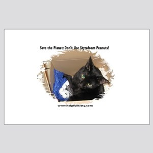 Save the Planet Helpful Kitty Large Poster