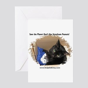Save the Planet Helpful Kitty Greeting Card