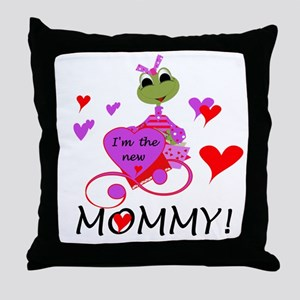 Frog New Mommy Throw Pillow