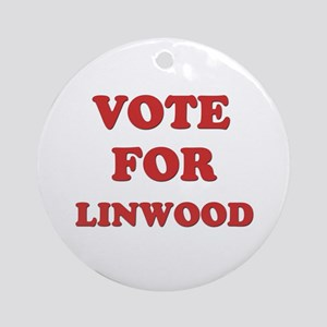Vote for LINWOOD Ornament (Round)