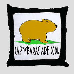 CAPYBARAS ARE COOL. Throw Pillow