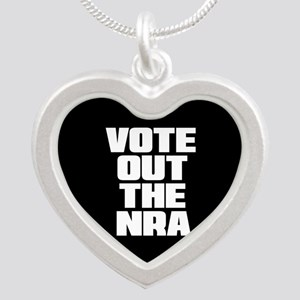VOTE OUT THE NRA Silver Heart Necklace