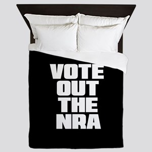 VOTE OUT THE NRA Queen Duvet