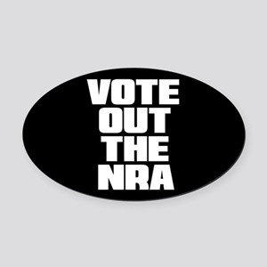 VOTE OUT THE NRA Oval Car Magnet