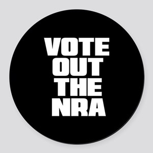 VOTE OUT THE NRA Round Car Magnet