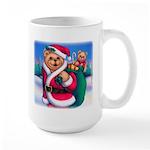 Santa Teddy Large Mug