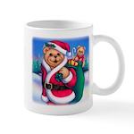 Santa Teddy Mug
