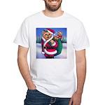 Santa Teddy White T-Shirt