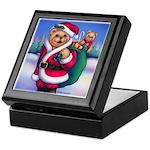 Santa Teddy Keepsake Box