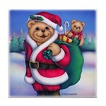 Santa Teddy Tile Coaster