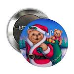 Santa Teddy Button