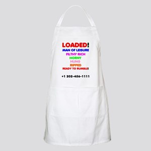 LOADED - MAN OF LEISURE, FILTHY RICH - Light Apron