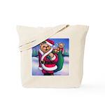 Santa Teddy Tote Bag