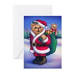 Santa Teddy Greeting Cards (Pk of 10)
