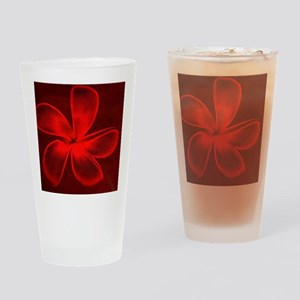 Flower Tropical Red Drinking Glass