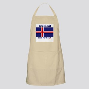 Iceland - Heart BBQ Apron