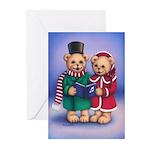 Bear Carolers Greeting Cards (Pk of 10)