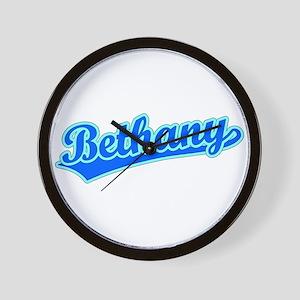 Retro Bethany (Blue) Wall Clock