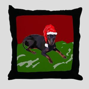 Manchester Christmas Throw Pillow