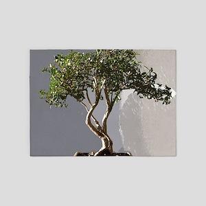 Leafy Japanese Bonsai Tree 5'x7'Area Rug