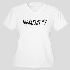 """Therapist #7"" Women's Plus Size V-Neck T-Shirt"