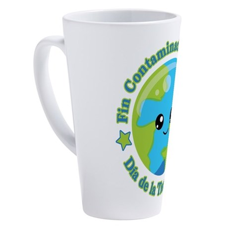 Día de la Tierra 2018   Fin C 17 oz Latte Mug by Admin_CP125434866