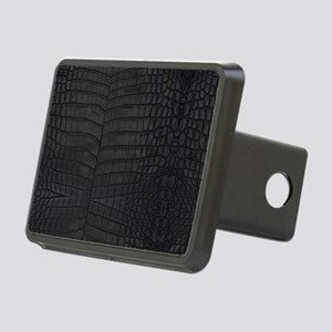 Black Crocodile Leather Pattern Hitch Cover