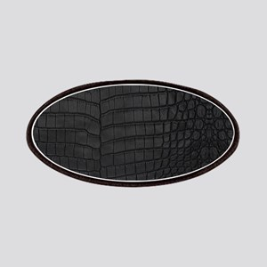 Black Crocodile Leather Pattern Patch