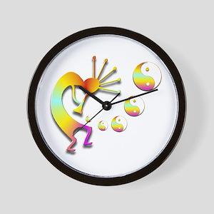 Kokopelli with Yin Yang #2 Wall Clock