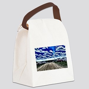 Steel Mountain sky Canvas Lunch Bag