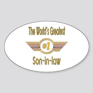 Number 1 Son-in-law Oval Sticker